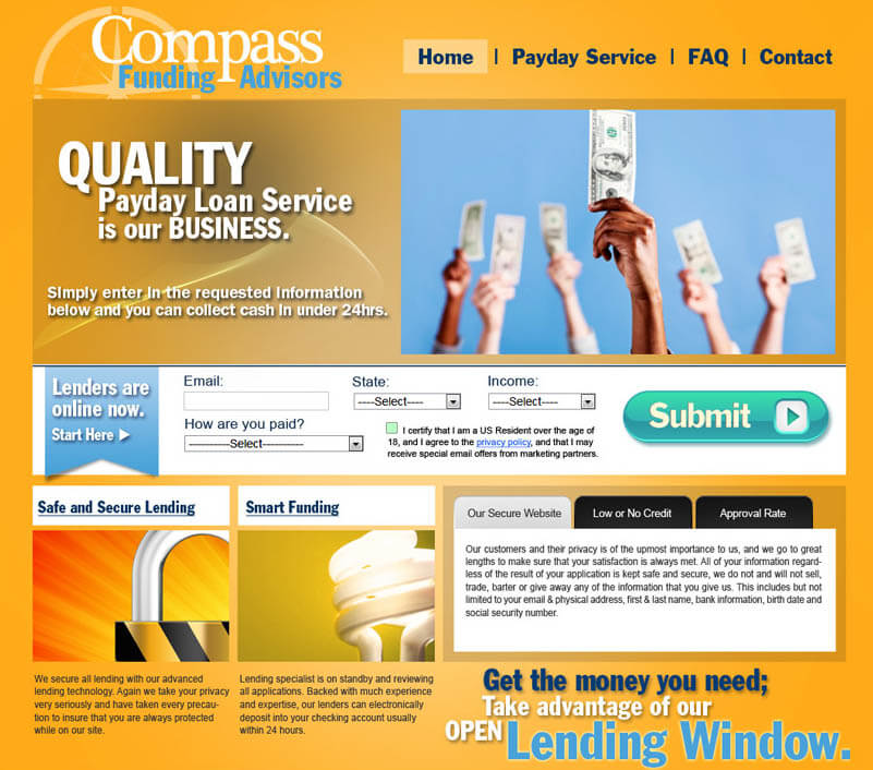 financial industry website design