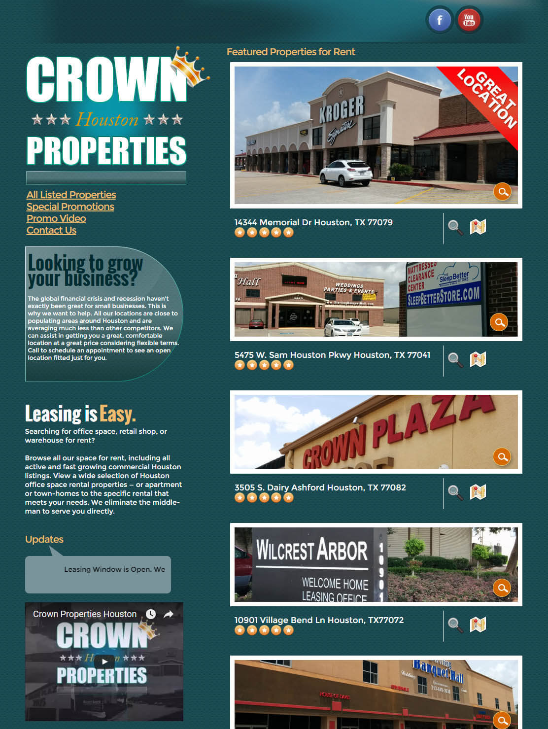 real estate properties website design