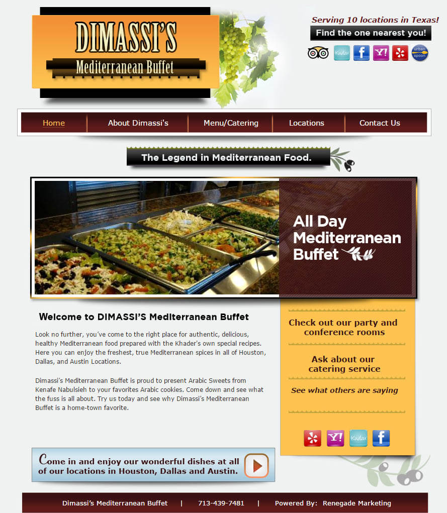 resturant website design