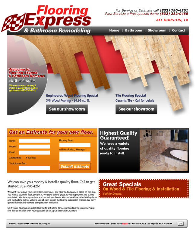 flooring website design