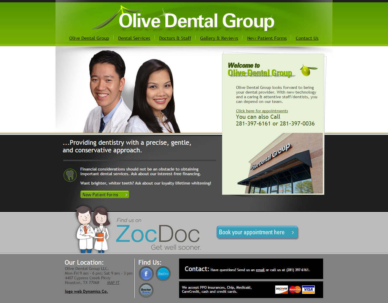 local dentist website design