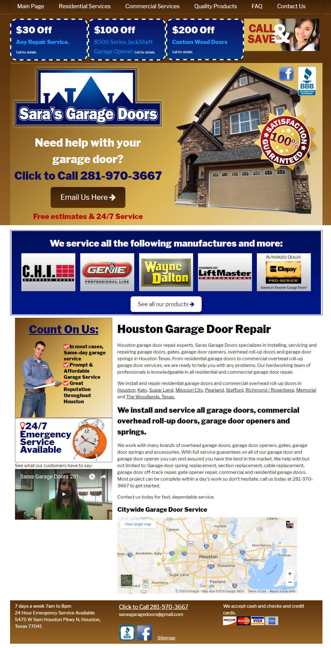 residential repair website design